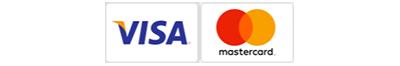 Her kan du betale med VISA og Mastercard