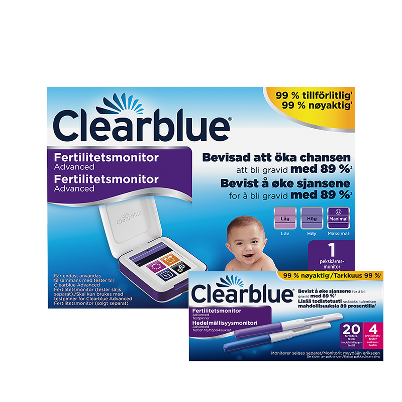 Clearblue Advanced Fertilitetsmonitor inkl. 20 + 4 stk. testpinner