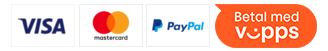 Her kan du betale med: VISA, Mastercard, PayPal og Vipps